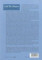 Carl Th. Dreyer ; le mystère du vrai - 4ème de couverture - Format classique