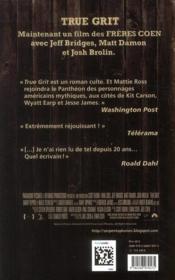 True grit - 4ème de couverture - Format classique