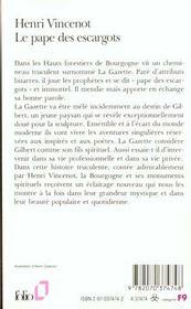 Le Pape Des Escargots - 4ème de couverture - Format classique