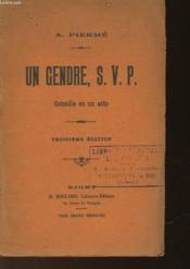 Un Gendre, S.V.P. - Couverture - Format classique