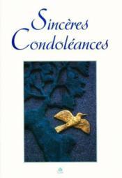 Sinceres condoleances - Couverture - Format classique