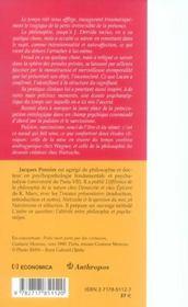 Le temps et le moi, psychanalyse et ontologie - 4ème de couverture - Format classique