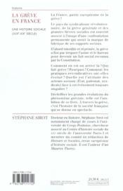 La greve en france - 4ème de couverture - Format classique