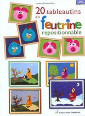 20 Tableautins En Feutrine Repositionnable - Intérieur - Format classique