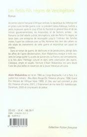 Les petits-fils nègres de Vercingétorix - 4ème de couverture - Format classique