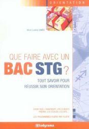 Que faire avec un bac stg ? edition 2006 - Intérieur - Format classique