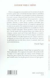 Danser Vers L Abime - 4ème de couverture - Format classique