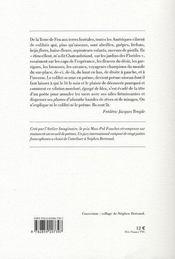 Premiers dits du colibri - 4ème de couverture - Format classique