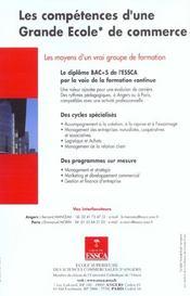 Guide Des Relations Enseignement-Professions 2002 ; 22e Edition - 4ème de couverture - Format classique