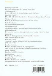 Humoresques, N 14. L'Horrible Et Le Risible - 4ème de couverture - Format classique