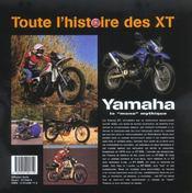 Yamaha Xt 500 - 4ème de couverture - Format classique