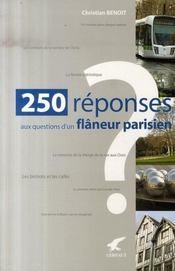 250 réponses aux questions d'un flâneur parisien - Intérieur - Format classique