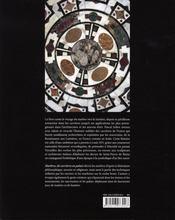 Marbres de carrières en palais - 4ème de couverture - Format classique