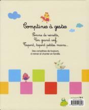 Comptines à gestes - 4ème de couverture - Format classique