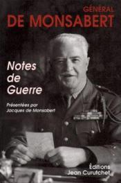 Notes de guerre - Couverture - Format classique
