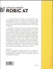 Robic 47 - 4ème de couverture - Format classique