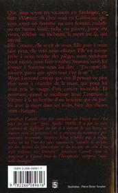 La Morsure De L'Ange - 4ème de couverture - Format classique