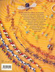 Perles de rocaille bijoux et objets en 3 dimensions - 4ème de couverture - Format classique
