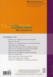 Travaux De Gestion ; Terminale Stt Cg - 4ème de couverture - Format classique