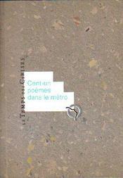 Cent-un poèmes dans le métro - Intérieur - Format classique