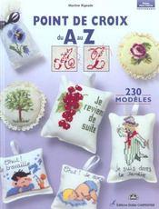 Point de croix du A au Z ; 230 modèles - Intérieur - Format classique