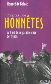Code des gens honnêtes - Intérieur - Format classique