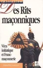 Des Rites Maconniques - Couverture - Format classique