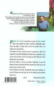 Plantes De Vie - 4ème de couverture - Format classique