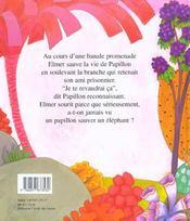 Elmer Et Papillon - 4ème de couverture - Format classique