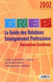 Grep 2002 ; Formation Continue - Intérieur - Format classique