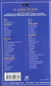 Guide Des Iles Et Archipels Du Monde ; Edition 2000 - 4ème de couverture - Format classique