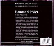 Hammerklavier - 4ème de couverture - Format classique