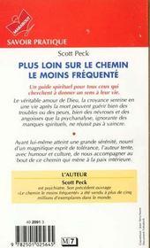 Plus Loin Sur Le Chemin Le Moins Frequent - 4ème de couverture - Format classique