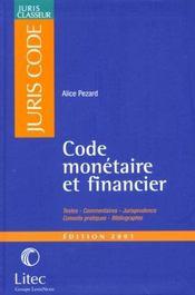 Code monetaire et financier - Intérieur - Format classique