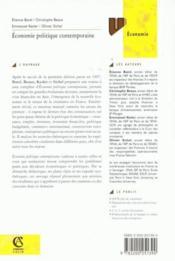 Economie Politique Contemporaine - Couverture - Format classique