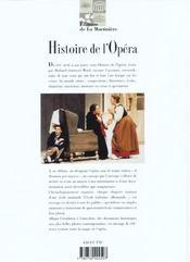 Histoire De L'Opera - 4ème de couverture - Format classique