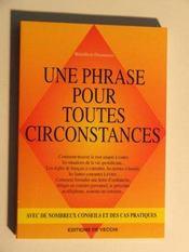 Une Phrase Pour Touttes Circonstances - Intérieur - Format classique