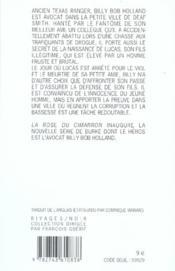 La rose du cimarron - 4ème de couverture - Format classique
