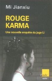 Rouge karma ; une nouvelle enquête du juge li - Intérieur - Format classique