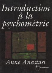 Introduction à la psychométrie - Couverture - Format classique