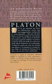 Le platon - 4ème de couverture - Format classique