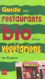 Guide des restaurants bio et vegetariens de france - Intérieur - Format classique