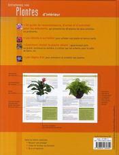 Entretenez vos plantes d'intérieur - 4ème de couverture - Format classique