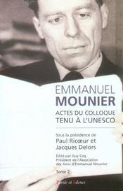 Emmanuel mounier, l'actualité d'un grand témoin t.2 - Intérieur - Format classique