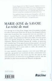 Marie-jose de savoie - 4ème de couverture - Format classique