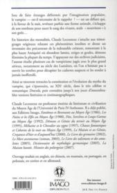 Histoire des vampires ; autopsie d'un mythe (2e édition) - 4ème de couverture - Format classique