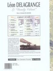 Leon delagrange, le dandy volant - 4ème de couverture - Format classique