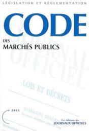 Code des marches publics - Couverture - Format classique