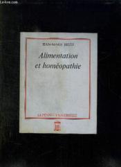 Alimentation Et Homeopathie. - Couverture - Format classique