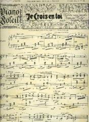 Piano Soleil 8 Avril 1894, N°14 - Couverture - Format classique